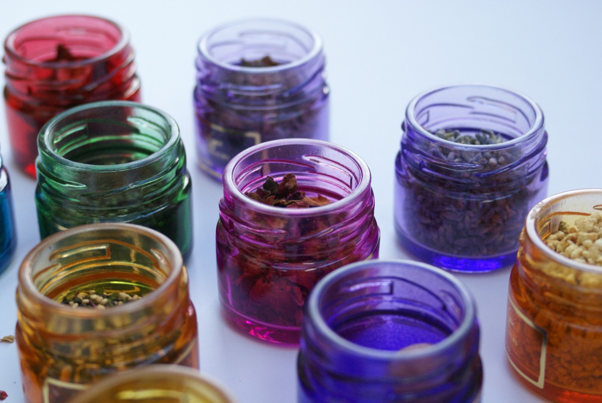 bright spice jars