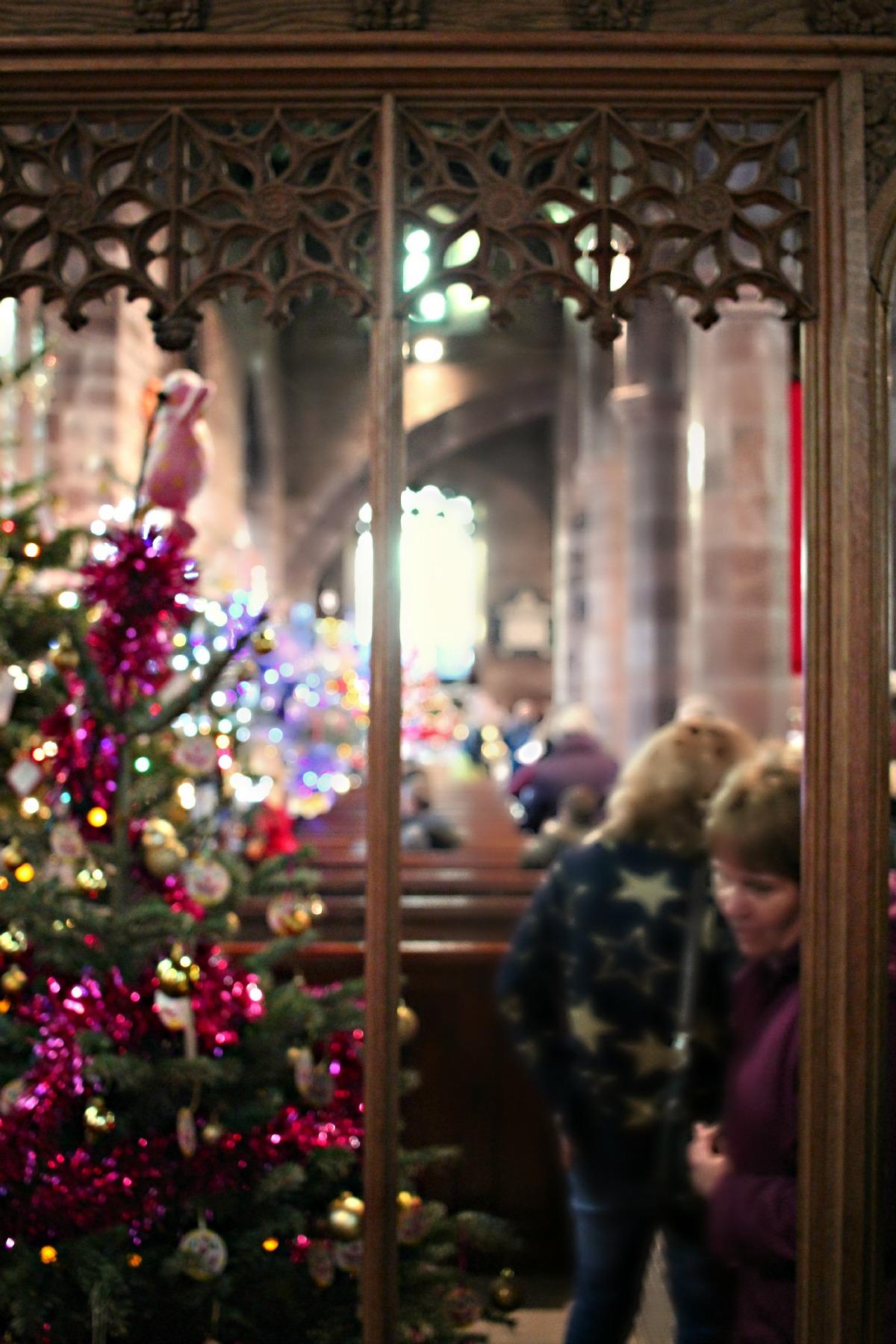 church christmas tree